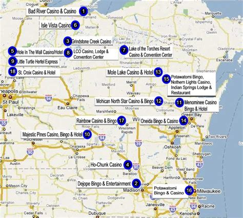 map us casino locations wisconsin indian casino directory