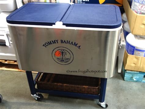 tommy bahama stainless steel cooler on wheels costco tommy bahama 100 quart rolling cooler frugal hotspot
