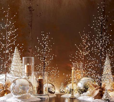 mercury glass trees lit mercury glass tree pottery barn