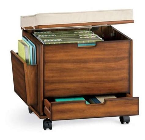 ottoman file storage craft home office rolling storage cart file cabinet