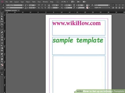 How To Set Up An Indesign Template 13 Steps With Pictures Indesign Box Template