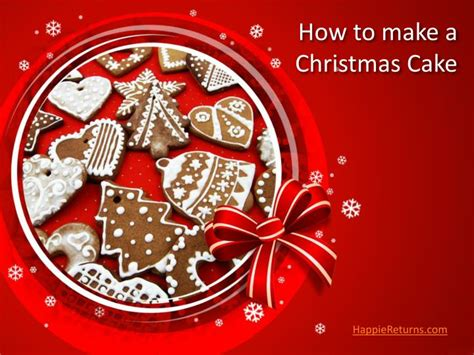 ppt how to make a christmas cake powerpoint presentation