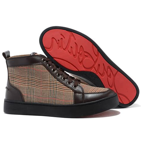 cheap high top sneakers for cheap christian louboutin rantus high top sneakers brown