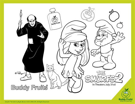 The Smurfs 2 Activities Treats And The Latest Video Game Smurfs 2 Coloring Pages