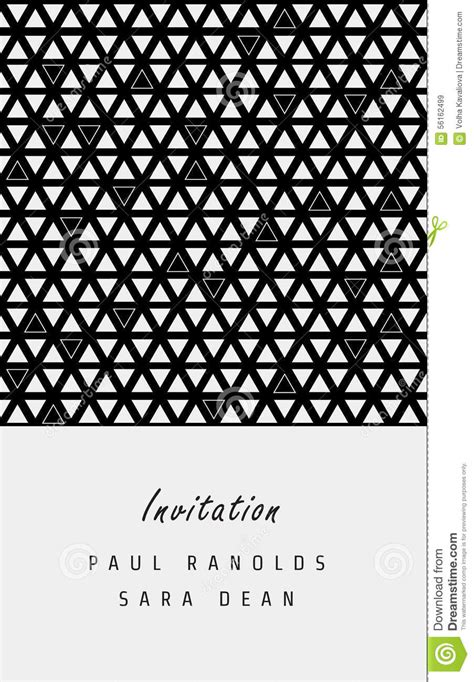 Geometric Patterns Card Template by Vector Minimal Invitation Card Or Ticket Stock