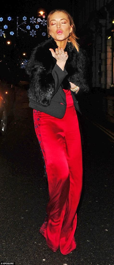 She Sis Jamsuit Sephora Jumpsuit lindsay lohan wears satin jumpsuit to with ali daily mail