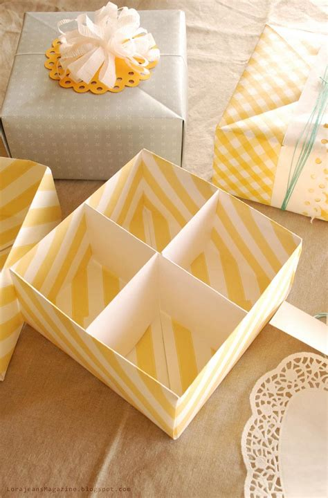 Make Your Own Paper Box - make your own gift box with lid tutorial picture