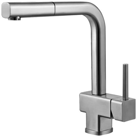 kitchen sink taps uk astini ettore brushed stainless steel pullout rinser