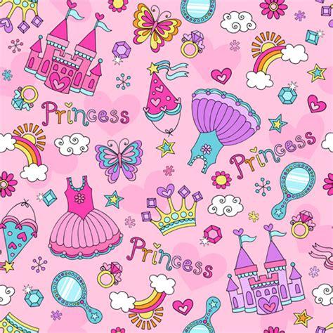 Pattern Princess Vector | cute princess elements pattern vector vector pattern