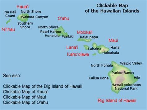 map of hawaii islands map of hawaiian islands travel hawaiian islands