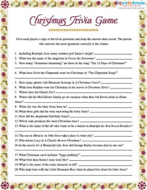 christmas games printable for adults trivia lovetoknow