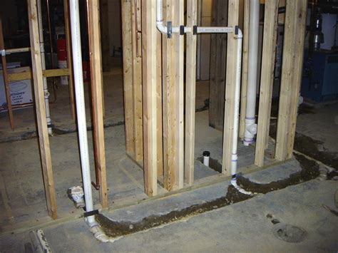 how to plumb a basement bathroom rooms