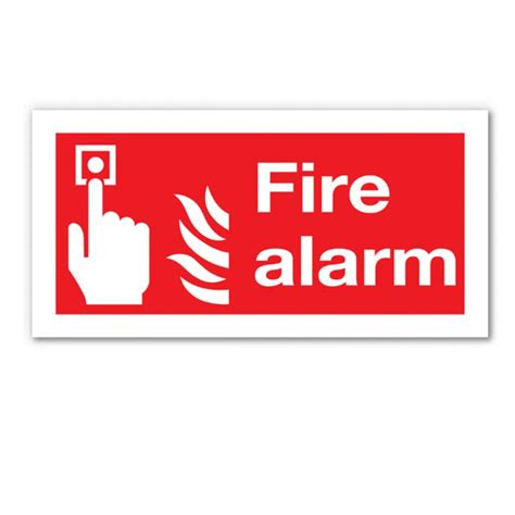 Alarm X One 100mm x 200mm alarm sign self adhesive or rigid plastic
