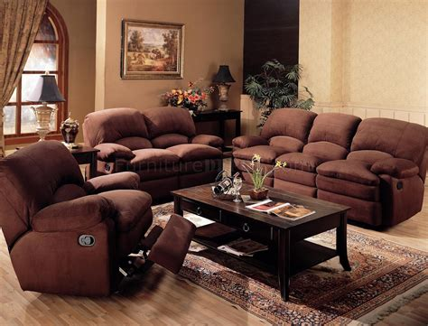 microfiber living room furniture chocolate padded microfiber reclining living room sofa w