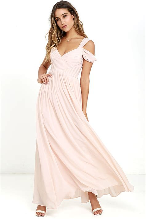 blush colored maxi dress lovely blush pink dress maxi dress bridesmaid dress