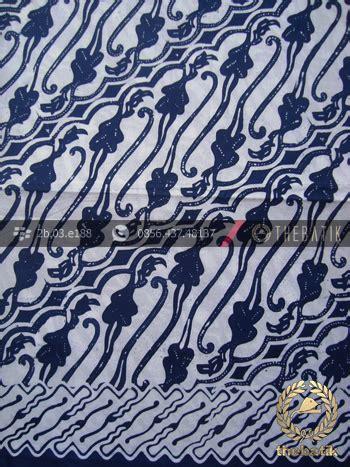 Blouse Batik Motif Toraja Biru jual kain batik bahan baju motif parang biru dongker