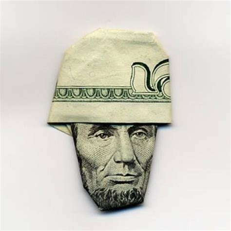 Origami Money Hat - stunning origami made using only money