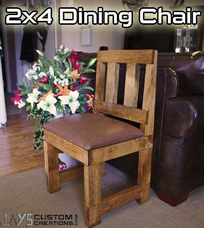 make a 2x4 dining chair diy wood projects