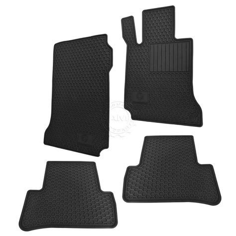 2011 Mercedes C300 Floor Mats by Mercedes Q6680665 Floor Mats Black Rubber Set Of 4 For C250 C300 C350 C63 Ebay