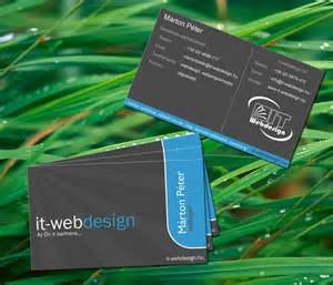 business card it web by gergely7 on deviantart