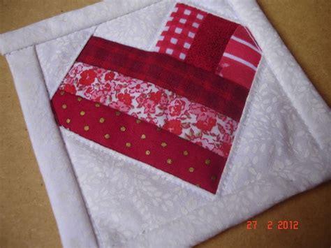 Patchwork Foundation - lia e suas artes mug rug em foundation ou paper