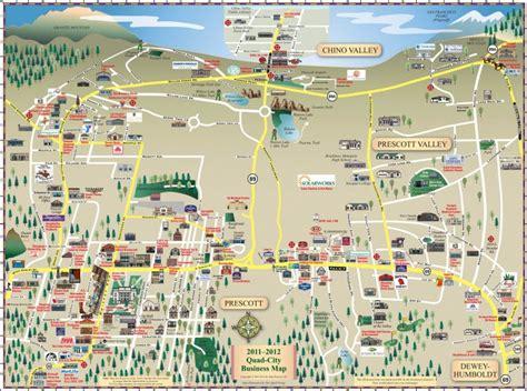 map of arizona prescott prescott az map car interior design