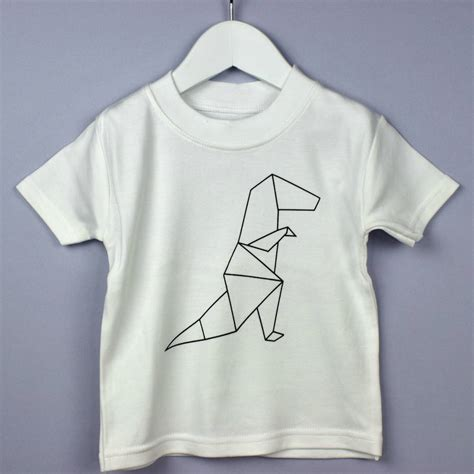 Origami T Shirts - origami dinosaur t shirt by rockwell wilde
