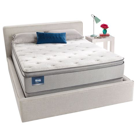 pillow top queen bed simmons beautysleep titus pillow top queen size mattress