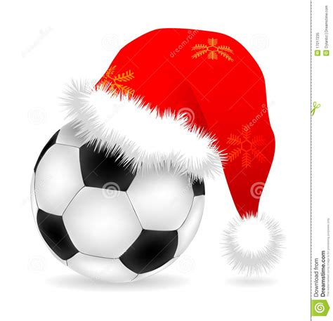 santa cap over ball stock vector image of time drawing