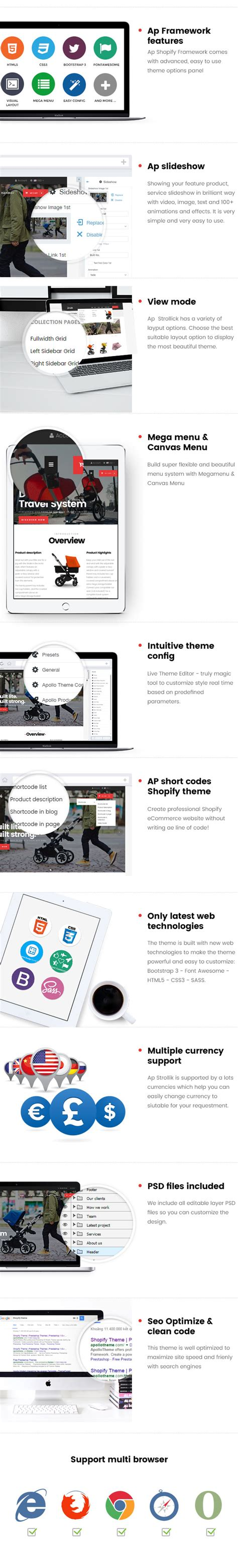 shopify themes for single product ap strollik single product shopify theme ecommerce