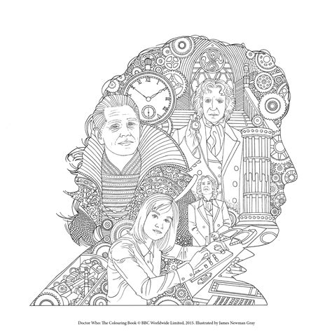 dr who coloring book doctor who the colouring book free pattern downloads