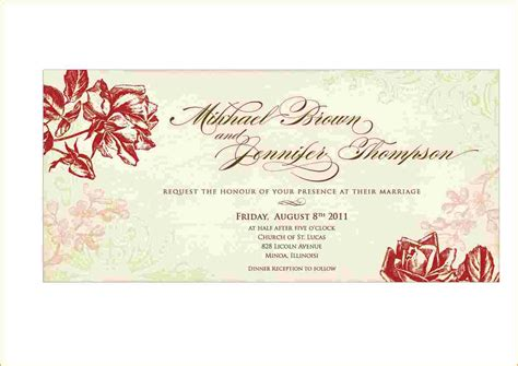 free wedding invite templates free printable blank wedding