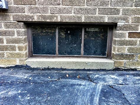 basement reno window replacement hopper glass block slider