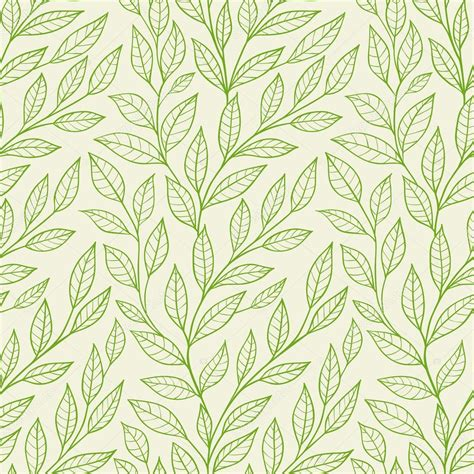 seamless pattern leaves seamless pattern with green leaves stock vector