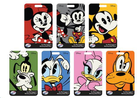 printable luggage tags disney new luggage tags to be shipped with magicbands