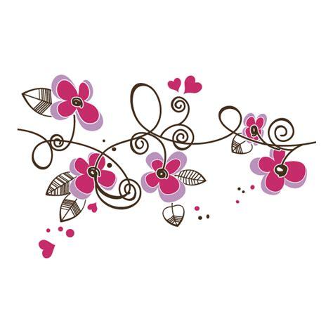 Imagenes De Flores Y Corazones Infantiles | vinilos decorativos flores y corazones spanish 757