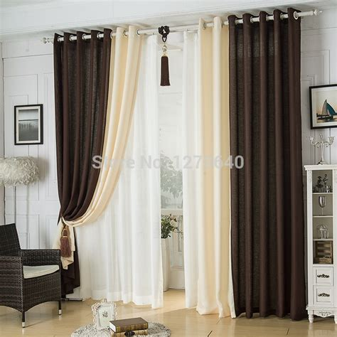 modern linen splicing curtainsdining room restaurant