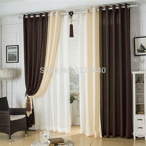 modern linen splicing curtainsdining room restaurant