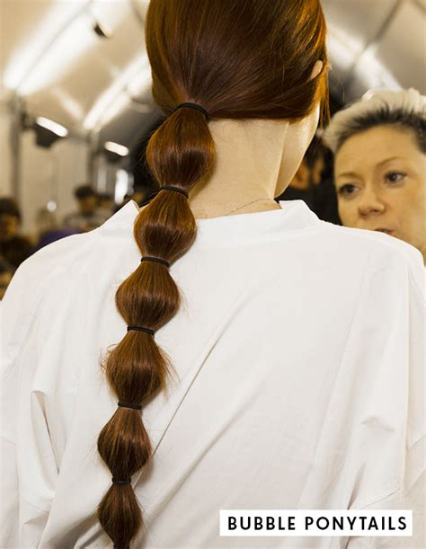 hairstyle bubble back aw 14 hair trends from pfw hair extensions blog hair