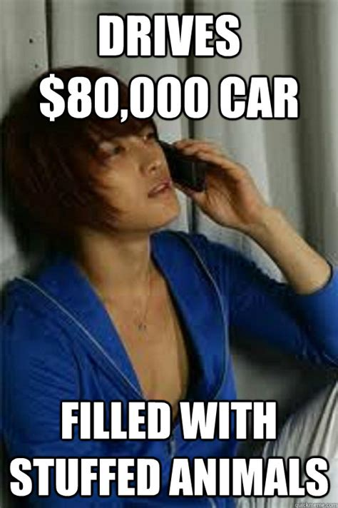 Asian Man Meme - drives 80 000 car filled with stuffed animals low