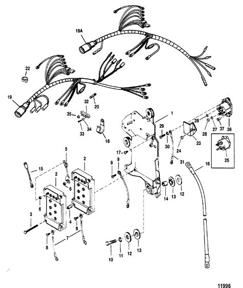 wiring harnessstarter solenoid  mariner mercury    xri