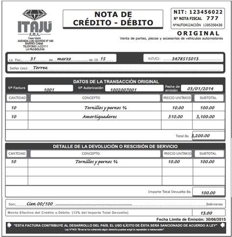 argentina que es una nota credito y debito bancaria notas de credito debito ejemplo bolivia impuestos blog