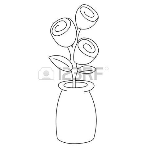 Vase Clipart Black And White by Flower Vase Clipart Black And White House Mine
