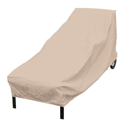 chaise lounge covers shop elemental tan polyester chaise lounge cover at lowes com