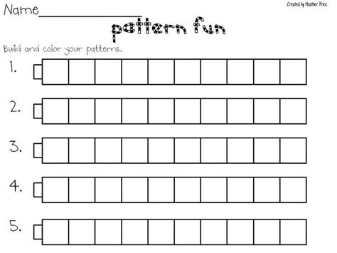 pattern worksheet ks1 58 best school gr 1 patterning images on pinterest 1st