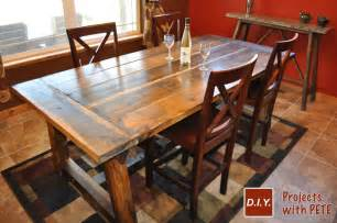 build a farmhouse how to build a rustic and bold farm table