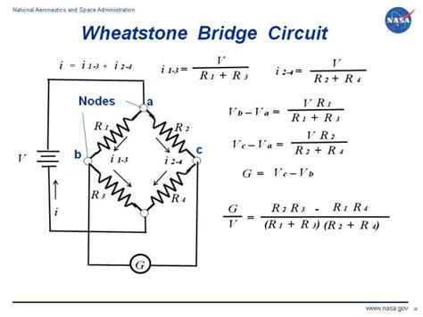 resistor equations wheatstone bridge circuit