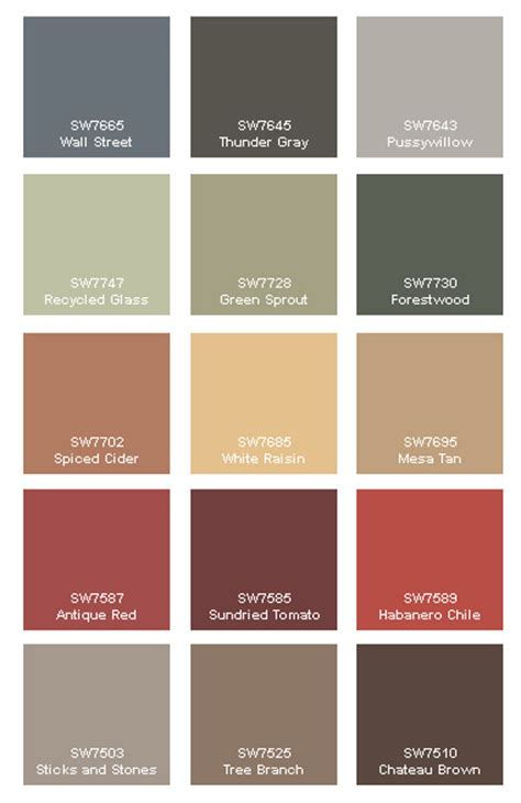 paint colour schemes rustic paint colors on cabin paint colors