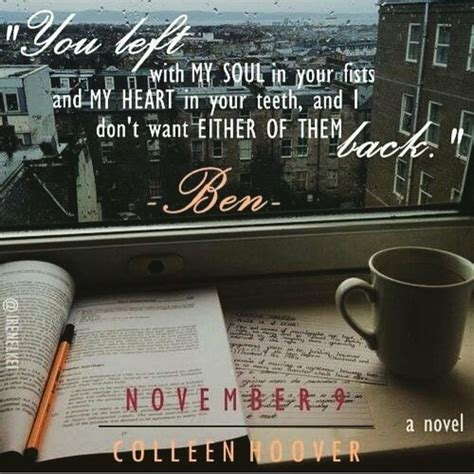November 9 By Colleen Hoover november 9 colleen hoover books hoovers book and november