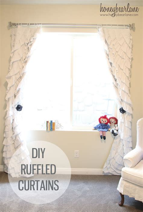 Diy Nursery Curtains How To Make Ruffled Curtains Honeybear